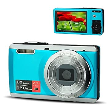 Buy Dc E70 2 7 Lcd Display 12 0mp Cmos Compact Digital Camera Camcorder With 8x Digital Zoom Av Out Sd Silver Blue Online At Low Price In India Erocket Camera Reviews Ratings