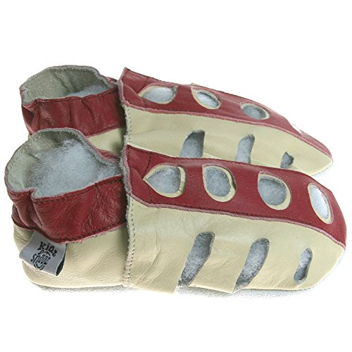 Kidz Shooz–lujo Soft Sole zapatos de cochecito de bebé de cuero niños sandalias 0–6, 6–12, 12–18, 18–24