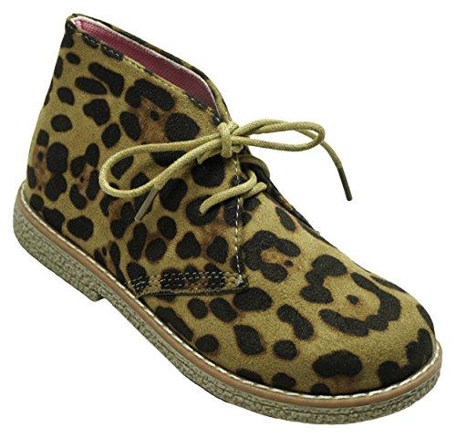 Bébé Fille Léopard Imprimé Animalier Fête Bottines Mode Cheville Chaussure Tailles de 6 à 12