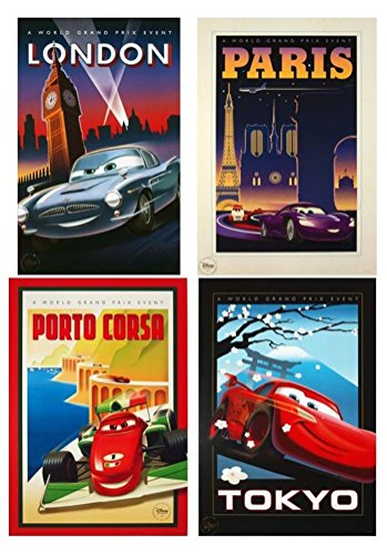 Disney Pixar Exclusive Limited Edition CARS 2 LITHOGRAPH SET