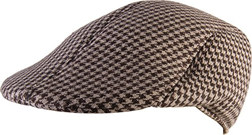 Adult's Mens Houndstooth Checkered Roaring 20s Detective Hat Costume Accessory