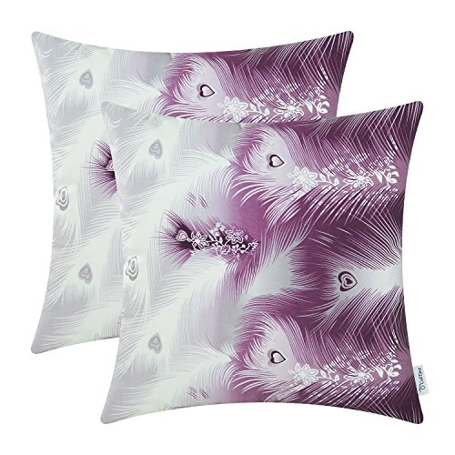 Pack 2 CaliTime Cushion Covers Throw Pillow Cases Shells,