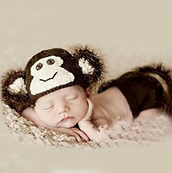 Amazon.com   Brightdeal Crochet Cute Monkey Hat Diaper Cover Set Outfit Baby  Boy Girl Newborn Photography Props Brown   Baby Nursery Decor Gift Sets    Baby 43def013b28a