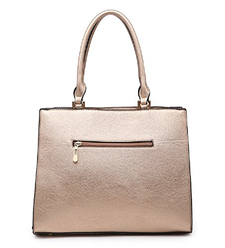 Women's Handbag Pink Panel Striped Ladies Bag Tote Shoulder Satchel Summer MA36007 Bag Stylish wqqHIgB