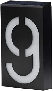 Solar House Numbers, LED Lighted/Illuminated House Number, Metal Address Plaque, Address Numbers for Houses, Address Plaque for Houses, LED Address Sign from JBD Signature (9)