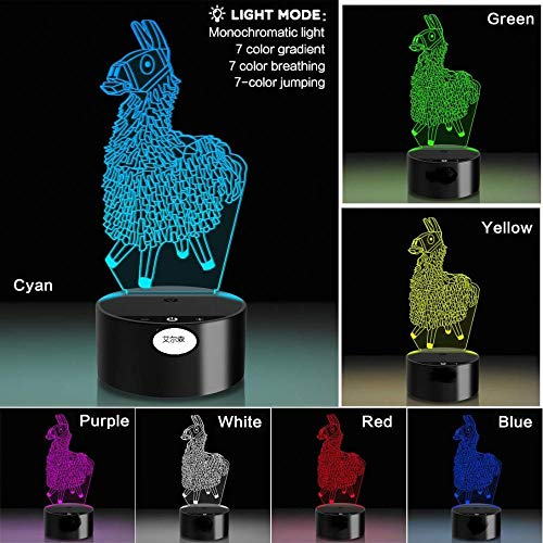 SanQ-Seven 2019 Dolphin 3D Night Light Creative Gift Light Colorful Touch Head
