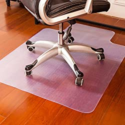 Mysuntown Office Chair Mat for Hardwood Floor, Anti-Slip Thin Desk Floor Protective Mats 36 x 48''
