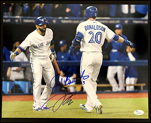 Josh Donaldson Jose Bautista Autographed Signed 11x14 Photo Baseball - JSA Authentication