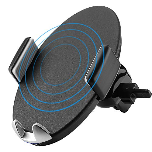 Wireless Car Charger Mount, 10W Fast Charger, Automatic Induction Qi Wireless Charging Pad Station Air Vent Holder for iPhone X, iPhone 8/8 Plus, Samsung Galaxy S6/S7/S8/S9 and All Qi Enabled Phones