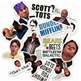 The Office Sticker Pack - Pack of 15 Office Themed Stickers, The Office Stickers for Water Bottles, Micheal Scott, Funny Laptop Decals, Hydro Flask Stickers