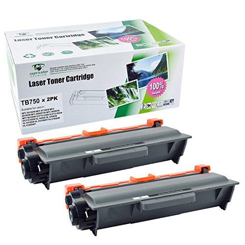 750 Black Toner - Supricolor TN750 TN720 High Yield Toner Cartridges 2 Black Compatible with DCP-8110DN DCP-8150DN DCP-8155DN HL-5440D HL-5450DN 5470DW 5470DWT 6180DWT MFC-8510DW 8710DW 8910DW 8950DTW 8950DW Product I