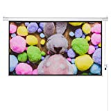 FurniTure Projector Screen 100'' 16:9 Electronic Projector Screen Remote Projector Screen Anti-Crease 160° Viewing Angle Projection Screen Motorized Support Home Theater Outdoor Indoor
