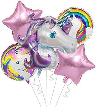 unicorn foil balloon and unicorn rainbow bunting birthday party decoration new