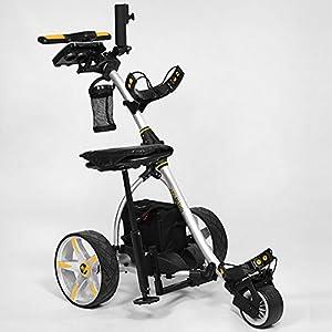 Bat-Caddy X3R Remote Control Cart w/ Free Accessory Kit, Silver, 35Ah SLA
