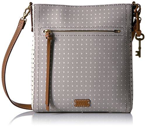 Fossil Emma N/s Crossbody, Grey/White