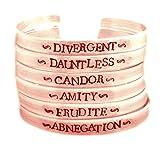 Divergent Inspired - Faction (Choose One) - Divergent, Dauntless, Abnegation, Amity, Candor or Erudite - A Hand Stamped Copper Bracelet