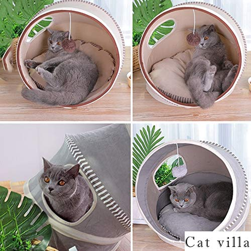 LYB Pet Toys Beds Cat Playing Tunnel Bed Pet Tunnel Kitten Play with Ball Bed by LYB