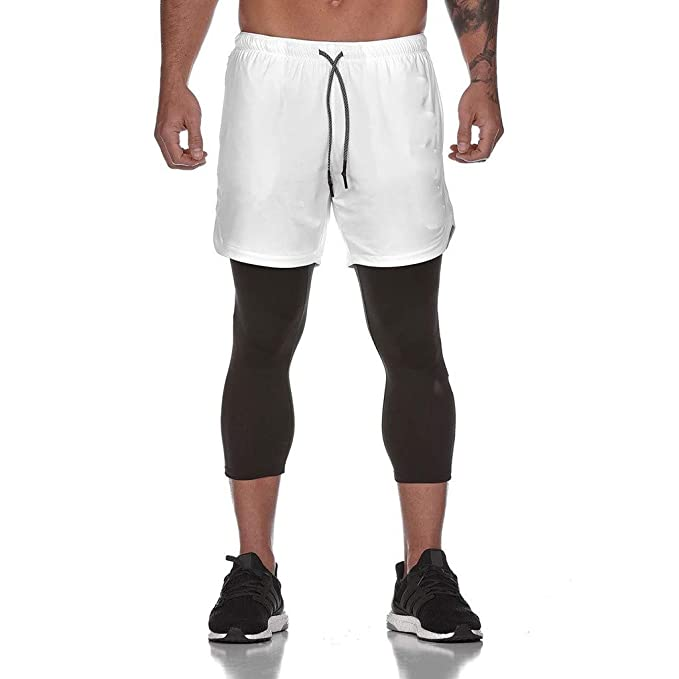 FELZ Leggins Hombres Deporte Hombres Pantalones de Fitness ...