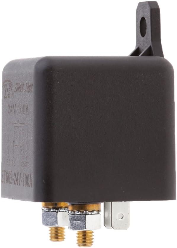 perfk 4 Terminales Sobre 100A 24V Relé De Aislamiento De Batería Interruptor De Encendido/Apagado Del Automóvil