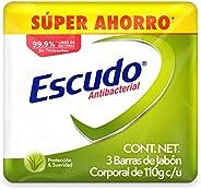 Escudo Antibacterial, Jabón de Tocador Protección Protección Con Aloe Vera, 3 barras de 110gr