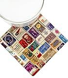 Israeli Stamps Decorative Trivet, Hot Pot Stand , Barbara Shaw Gifts, made in Jerusalem
