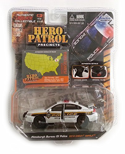 Jada Hero Patrol: Pittsburgh Bureau of Police - 2010 Chevy Impala 1/64 Scale
