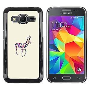 LECELL--Funda protectora / Cubierta / Piel For Samsung Galaxy Core Prime SM-G360 -- Dot Minimalist Watercolor Art --