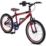 Bicicleta Aro 20 Rainbow Bike Spider com Simulador de Acelerador e Descanso Lateral