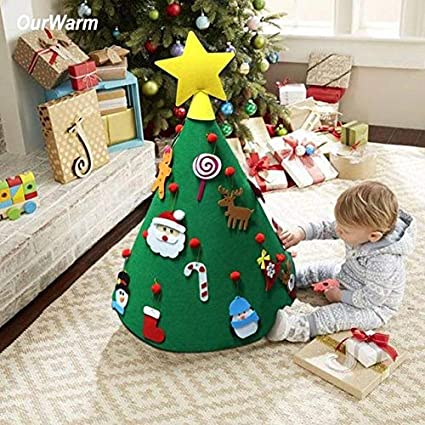 Hanging Christmas Decorations To Make.Amazon Com Bt 3d Diy Felt Christmas Tree With Hanging