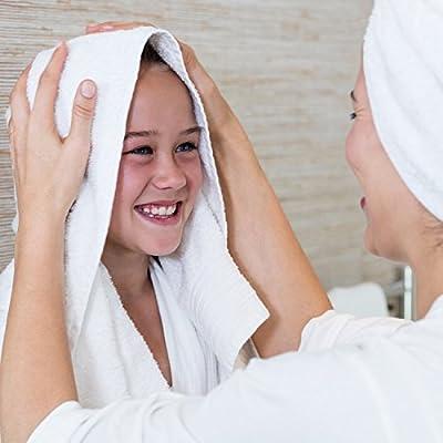 Superior 900 Gram 100% Premium Long-Staple Combed Cotton 6-Piece Towel Set, Black