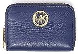 Michael Kors Fulton Leather Zip Around Coin Case (Navy)