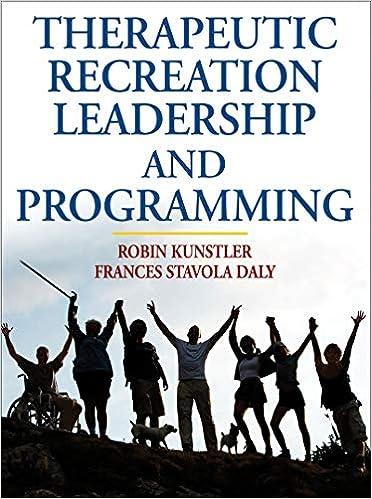 Amazon com: Therapeutic Recreation Leadership and