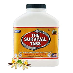 Survival Tabs 15-Day Prepper Food Replacement for Storage Manager OR Distribution Manager Emergency Food Supply Gluten Free and Non-GMO - Vanilla Malt Flavor