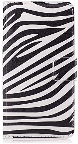 Samsung Galaxy S7 レザー ケース, 手帳型 サムスン ギャラクシー S7 本革 ポーチケース 全面保護 ビジネス カバー収納 財布 無料付スマホ防水ポーチIPX8 White6