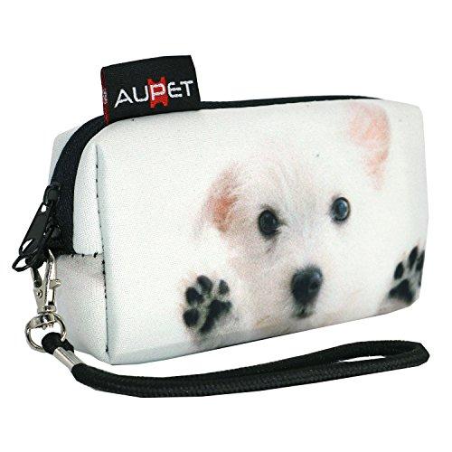 AUPET White Dog Digital Camera Case Bag Pouch Coin Purse with Strap for Sony Samsung Nikon Canon Kodak,White Dog Design