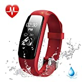 Lintelek Heart Rate Fitness Tracker Watch, Updated Activity Tracker with Multiple Sports Modes, IP67 Waterproof Touch Screen Smart Pedometer for Android and IOS Smart Phones