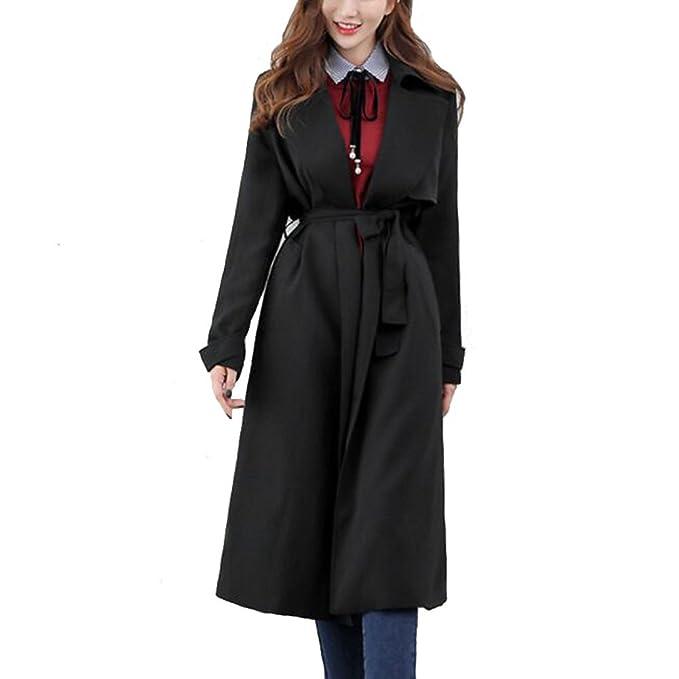 Dama Lana Cintura Desgastar Negro Moda Fiesta Ceñido Capa Mujer xT57Iqw