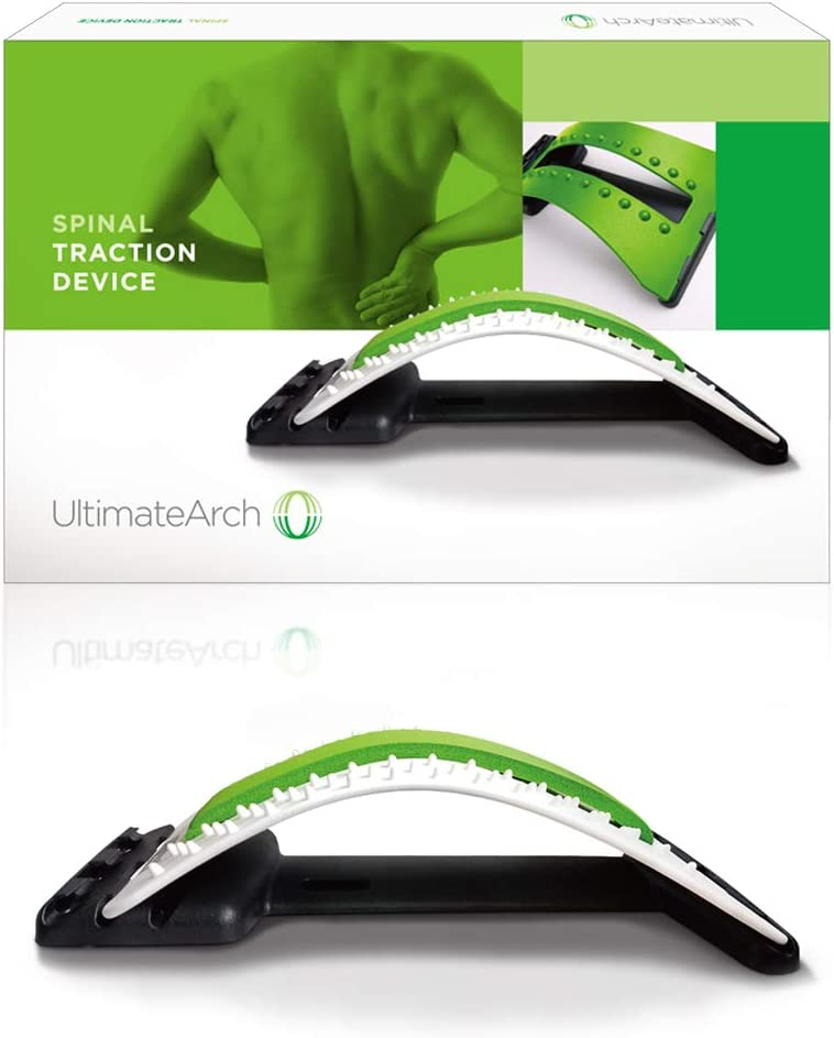 Back Stretcher for Lower Back Pain by Ultimate Arch - Spinal Traction Device for Back Pain Relief, Massage, Spine Decompression and Alignment: Health & Personal Care