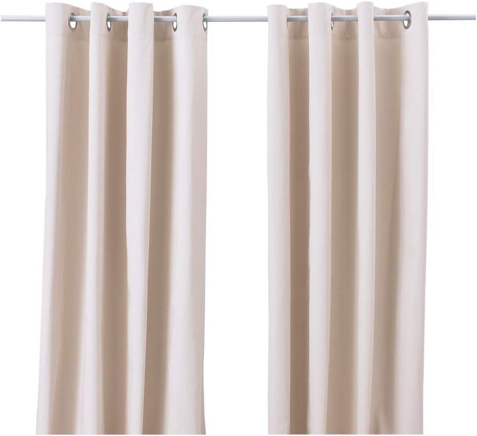 IKEA Ebbalisa 604.108.53 Cortinas (1 par, 57 x 98), color blanco y negro