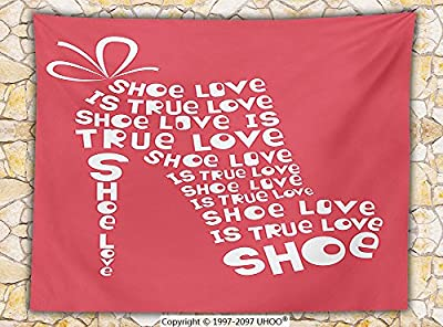 Quotes Decor Fleece Throw Blanket Shoe Love is True Love Fashion Colored Woman Shoe Made From Quotes Funny Art Throw