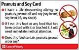 Peanuts and Soy Allergy Translation Card - Translated in Spanish or any of 9 languages