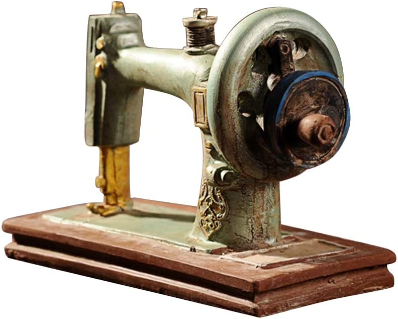 HEALLILY Modelo de máquina de Coser de Ornamento Vintage de Resina de Escritorio Modelo de Escultura de colección para decoración de Navidad: Amazon.es: Hogar