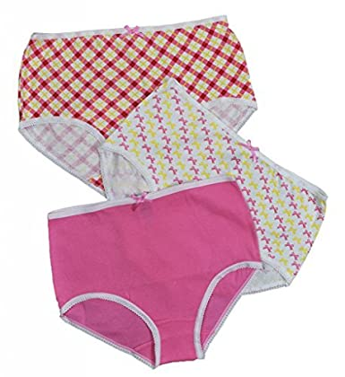Jack n Jill Girls 100/% Combed Cotton Briefs In Assorted Prints 3 Pack
