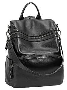 Heshe Leather Backpacks for Women Casual Daypacks Handbags Ladies