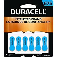 Duracell HA-675x6 675 Hearing Aid Batteries, 6 Count