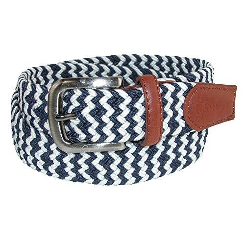 Arnold Palmer Men's Tubular Elastic Braided Belt, 36 / 38, Navy / (Arnold Palmer Golf)