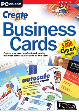 Create your own business cards amazon software create your own business cards reheart Choice Image