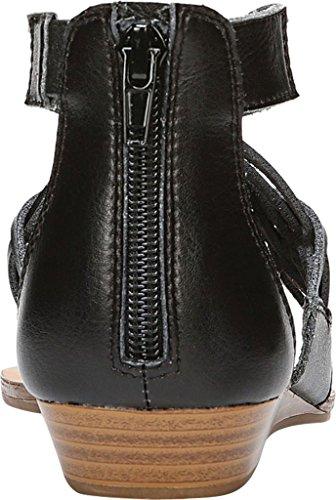 Fergalicious Split T Strap Black Womens Casual Toe Tizzy Sandals rfwqxpArn