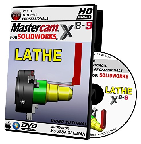 Mastercam For Solidworks X8-X9 - Lathe Video Tutorial HD DVD by VTPROS.NET