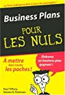 Business Plans pour les Nuls par Tiffany